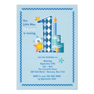 Kleiner Mann-erste Geburtstags-Einladung 12,7 X 17,8 Cm Einladungskarte