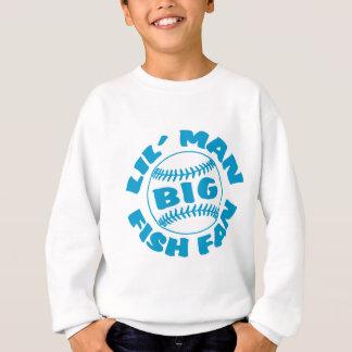 Kleiner Mann-GROSSER Fisch-Fan Sweatshirt
