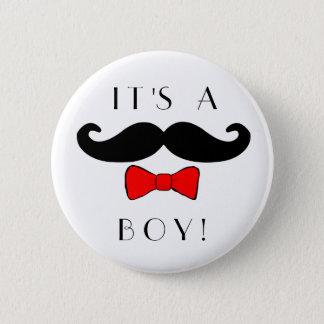Kleiner Mann ist es ein Jungen-Schnurrbart und ein Runder Button 5,1 Cm