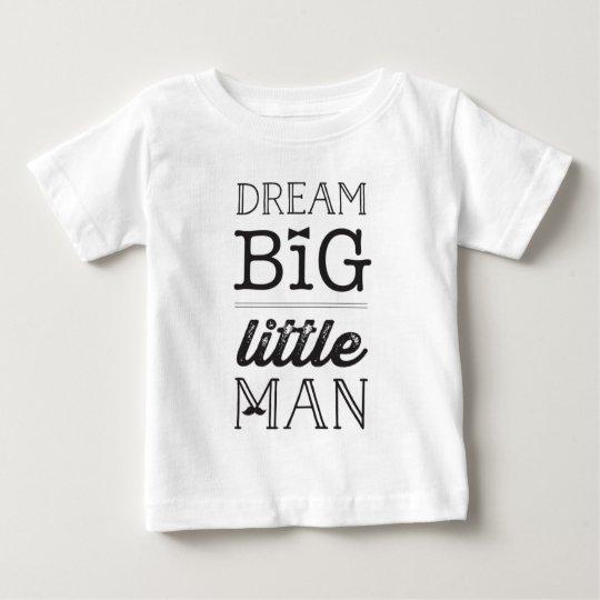 Kleiner Mann-scherzt großer Träume BowTie Baby T-shirt