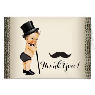 Kleiner Mann-Schnurrbart danken Ihnen Karte