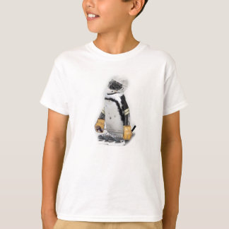 Kleiner Pinguin-tragender Hockey-Gang T-Shirt