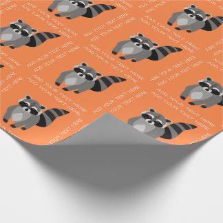 Kleiner Raccoon-Gauner-personalisierte Geschenkpapier