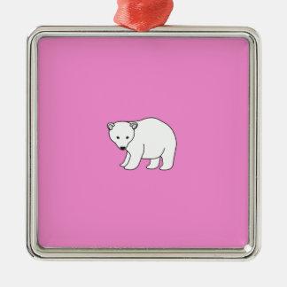 kleiner, süßer Eisbär Silbernes Ornament