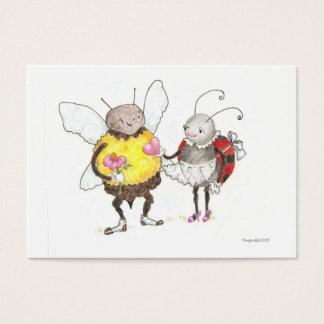 kleiner Valentinsgruß der Biene und des Visitenkarte
