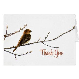Kleiner Vogel danken Ihnen zu merken Karte