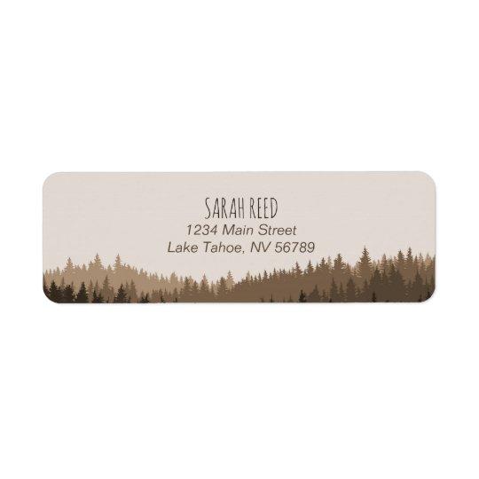 Kleines Adressen-Etikett für rustikale Kleiner Adressaufkleber