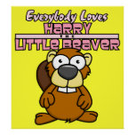 Kleines Biber-Plakat Harrys