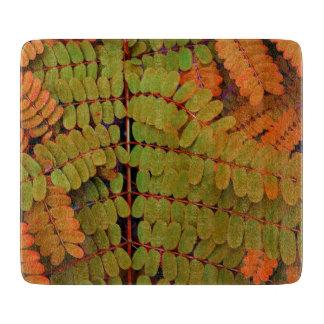 Kleines Blätter-Muster Schneidebrett