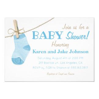 Kleines Blau trifft Jungen-Babyparty-Einladung Karte