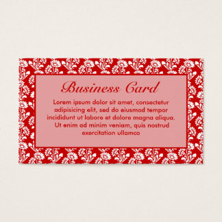Kleines Blumen-Muster-Rot + Kundenspezifische Visitenkarte