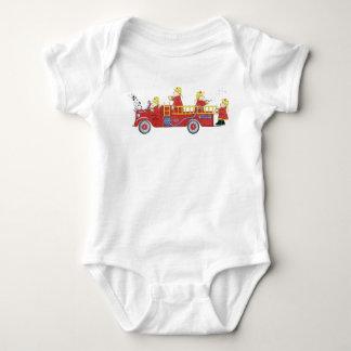 Kleines Feuerwehrmann-T-Shirt Baby Strampler