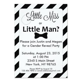 Kleines Fräulein oder kleines Mann-Geschlecht Karte