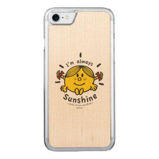 Kleines Fräulein Sunshine | bin ich immer Carved iPhone 8/7 Hülle
