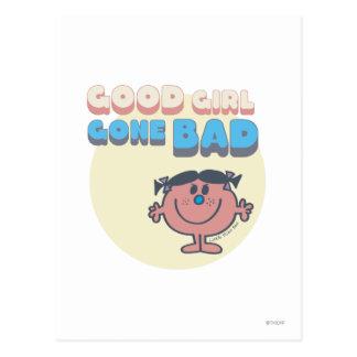 Kleines gutes Mädchen Fräulein-Bad | schlecht Postkarte