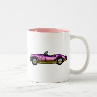 kleines klassisches Sportauto Zweifarbige Tasse