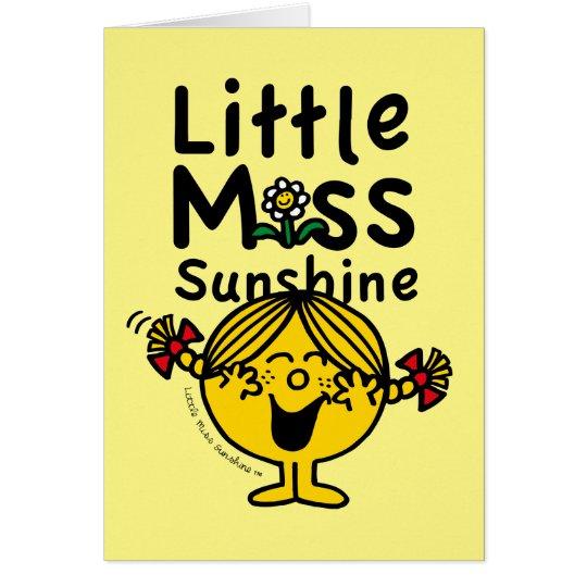 Kleines kleines Fräulein Sunshine Laughs Mitteilungskarte
