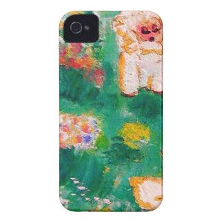 Kleines Lamm, das im Blumen-Designer spielt iPhone 4 Case-Mate Hülle