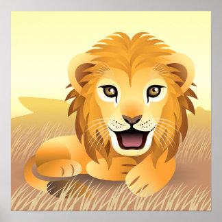Kleines Löwe-Plakat Poster