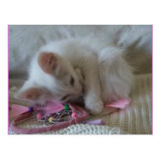 Kleines Mädchen-Miezekatze-Postkarte #2 Postkarte