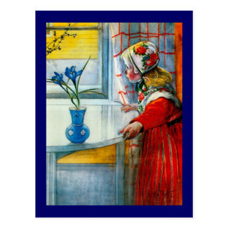 Kleines Mädchen mit blauer Iris Postkarte