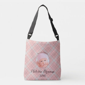 Kleines Mädchen-Rosa Prinzessin-Baby kariert Tragetaschen Mit Langen Trägern