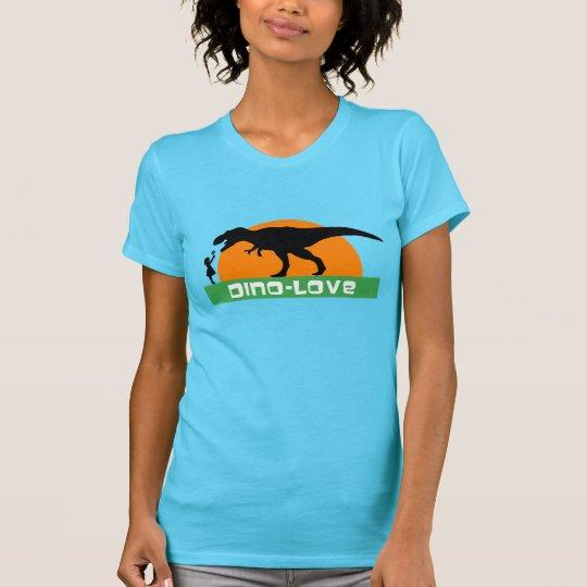 Kleines Mädchen und Dinosaurier T-Shirt