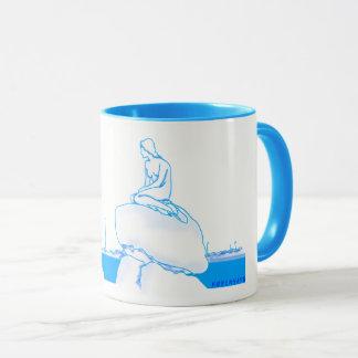 Kleines Meerjungfrau-Blau Kopenhagens Kopenhagen Tasse