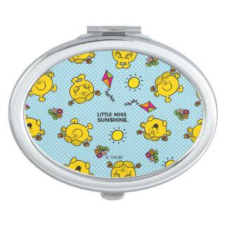 Kleines Polka-Punkt-Muster Fräulein-Sunshine | Schminkspiegel