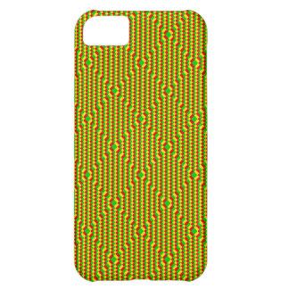 Kleines Quadrate Rasta Muster iPhone 5C Hülle