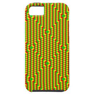 Kleines Quadrate Rasta Muster Schutzhülle Fürs iPhone 5