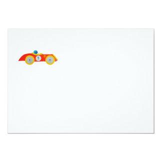 Kleines rotes Roadster-Rennwagen-Kinder1. Karte