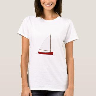 Kleines rotes Segelboot (Bermuda manipuliert) T-Shirt