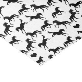 Kleines schwarzes Pferdeseidenpapier Seidenpapier