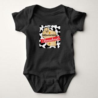 Kleines Shirt Baby-Wisconsins Cheesehead