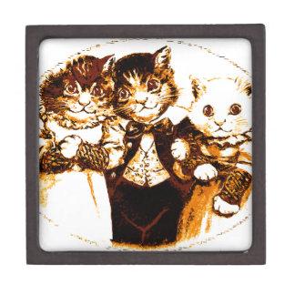 Kleines Stück drei Katzen Schachtel