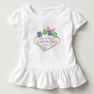 Kleinkind-Rüsche-Baby von Las Vegas-T-Stück Kleinkind T-shirt
