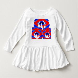 Kleinkind-Rüsche-Kleiderabstrakte glückliche Kleid