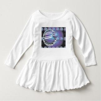 Kleinkind-Rüsche-Kleidkugelförmiges UNIVERSUM Kleid
