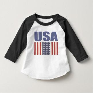 Kleinkind-Strickjacke mit coolem USA-Flaggen-Druck Hemd