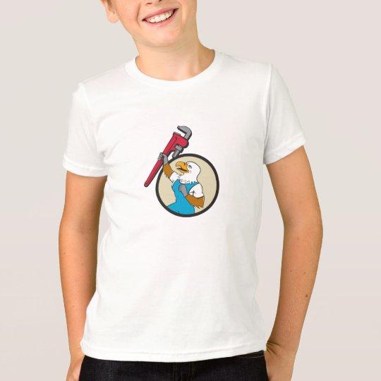 Klempner Eagle, das oben Rohr-Schlüssel-Kreis T-Shirt