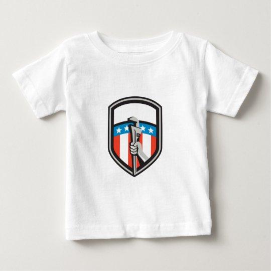 Klempner-Handrohr-Schlüssel USA-Flaggen-Schild Baby T-shirt