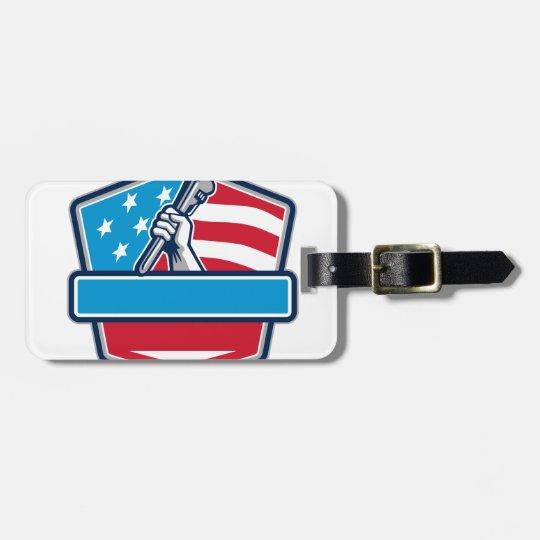 Klempner-Handrohr-Schlüssel USA-Flaggen-Schild Kofferanhänger