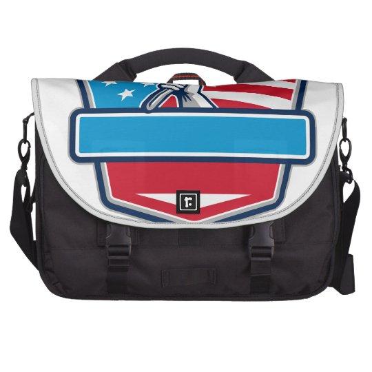 Klempner-Handrohr-Schlüssel USA-Flaggen-Schild Notebook Tasche