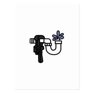 Klempner-Logo Postkarten