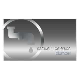 Klempner-mutiges Chrom-Wasserleitung-Ikonen-Silber Visitenkartenvorlagen