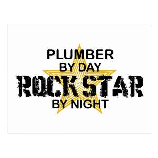 Klempner-Rockstar bis zum Nacht Postkarte