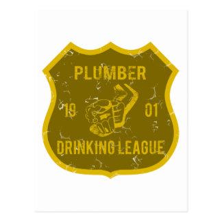 Klempner-trinkende Liga Postkarte
