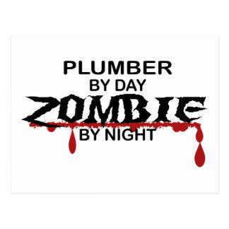 Klempner-Zombie Postkarte