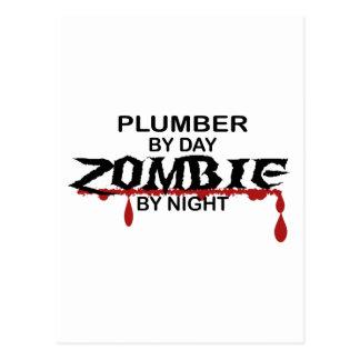 Klempner-Zombie Postkarten